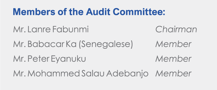Food Concepts - Members of the Audit Committee