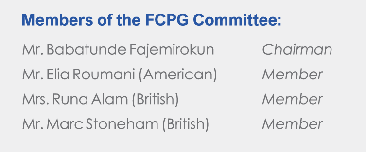 Food Concepts - Members of the FCPG Committee